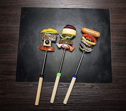 Fablcrew Set de 5 Tapis de Cuisson Tapis BBQ Barbecue Réutilisable Feuille de Cuisson 40 * 33CM Anti-adhérent pour Barbecue à Gaz, Électriques et Charbon