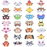 28 Piezas Fiesta Máscaras para Niños, Fieltro Máscaras