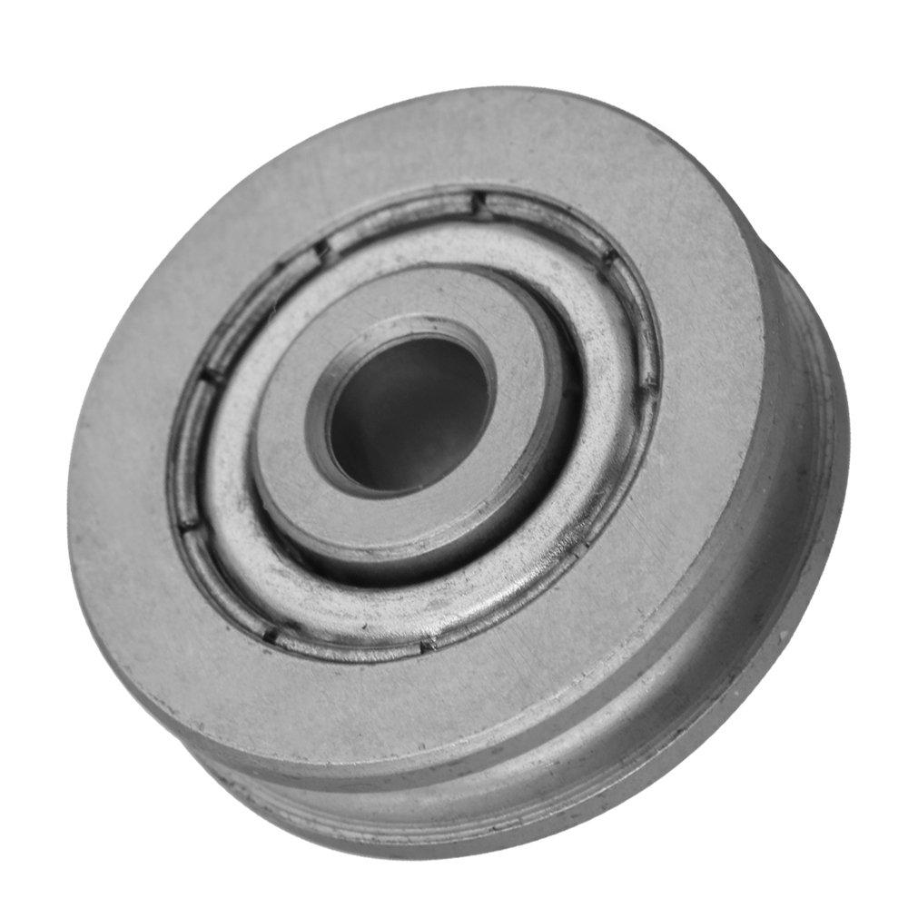 Cnbtr 2/pi/èces 5/x 23/x 6.5/mm en forme de U scell/é Roulements /à billes en acier Guide Poulie Rail Roulement Roulement de roue Force 167/kg