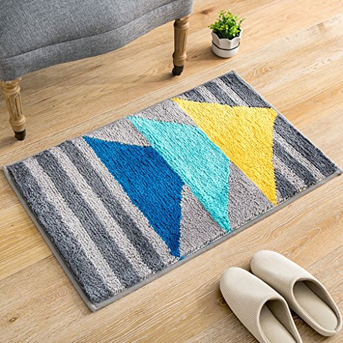 Doormats LXF Carpet Hall Ottomans Home Bathroom Doorway Absorbent Pad Non-slip Mats Multi-size Optional (Color : F, Size : 45x65cm) (Ottoman Pads)