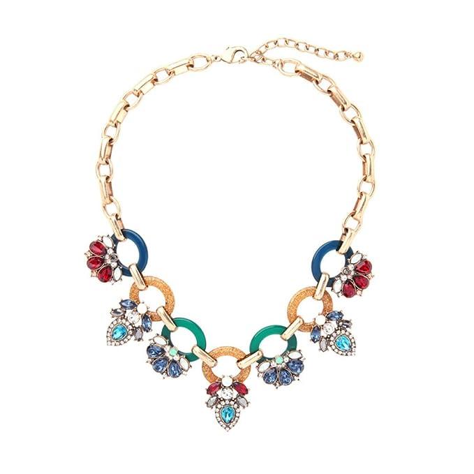 ZXM xl Retro Collar Femenino Exagerado Flores Vestido De Fiesta Accesorios Accesorios Lujo Joyería, Multicolor-L: Amazon.es: Ropa y accesorios