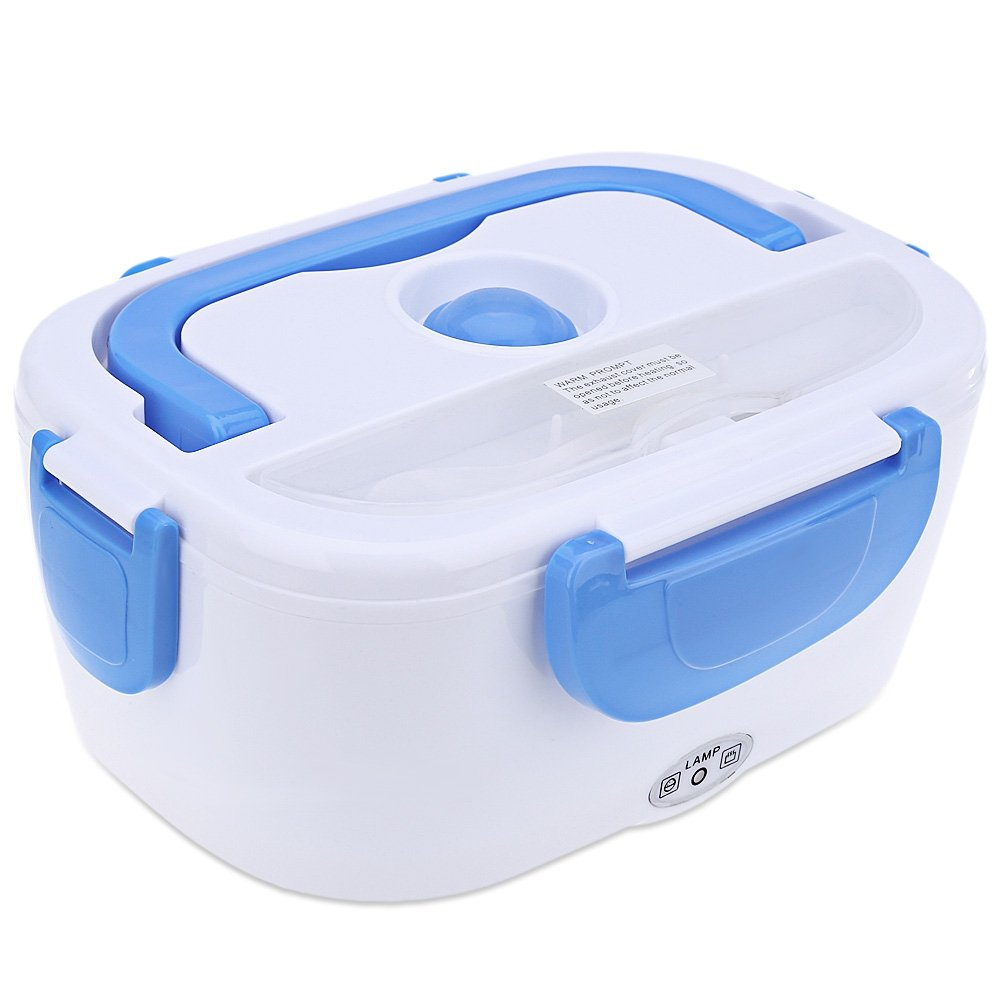 AutoLover 12V/1.2L Car Portable Electric Heating Lunch Box Meal Heater Multi-functional Double-deck,GREEN