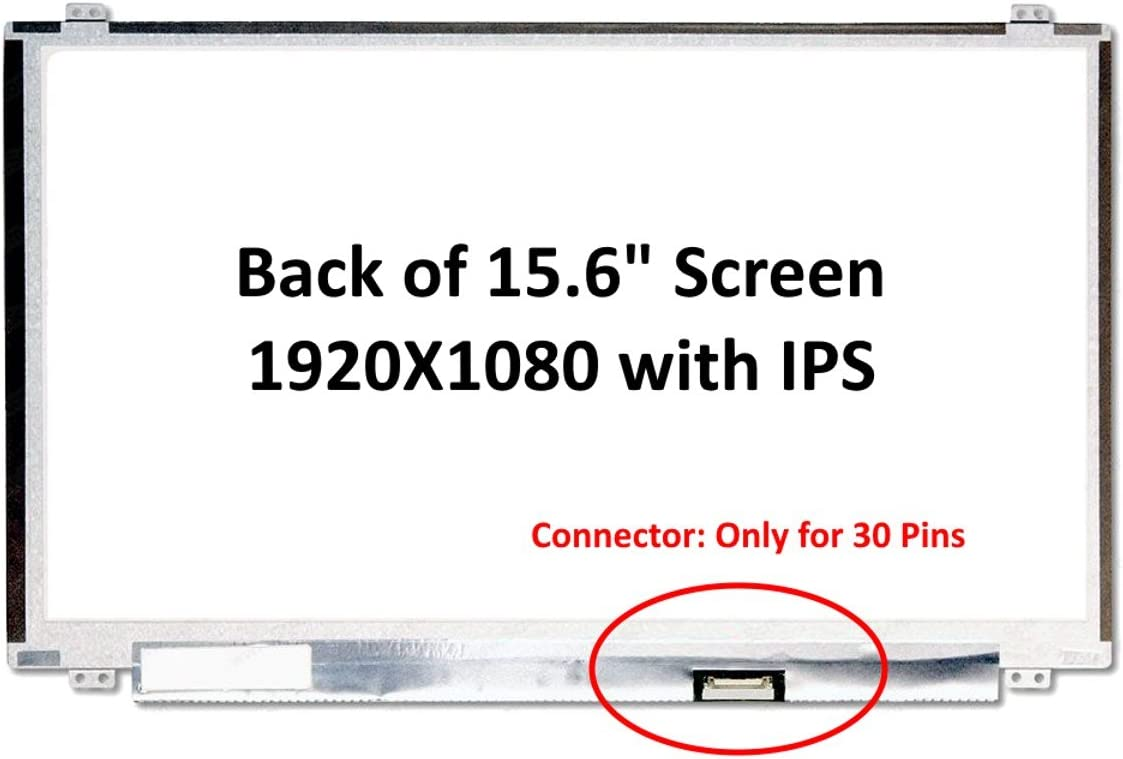 Fullcom New 15.6 inches Compatible withLatitude155580 fit NV156FHM-N49 IPS FHD 1080P Laptop LED LCD Replacement Screen
