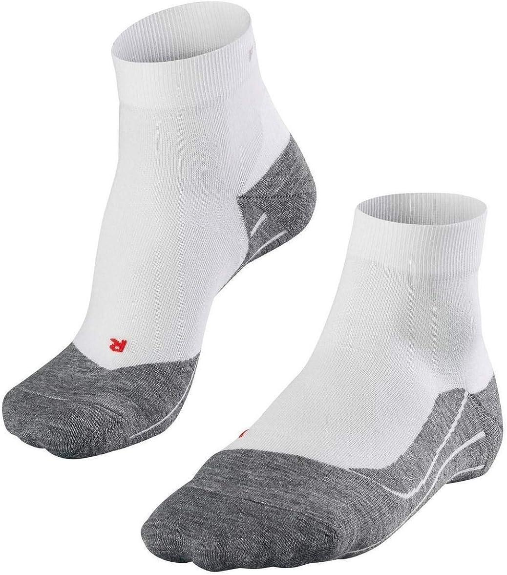 White Mix Falke Mens Running 4 Medium Short Socks