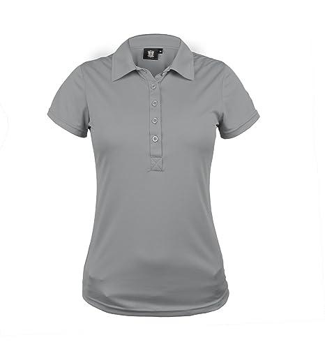 TONY TREVIS Golf Polo para Mujer Gris - Tiras: Amazon.es: Deportes ...
