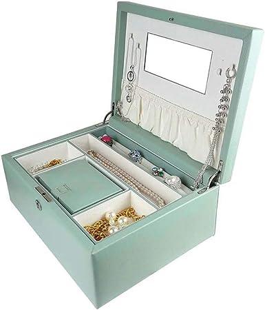 Travel Jewellery Box Joyero Organizador Display Estuche De Almacenamiento Y Cajas De Joyas con Espejo para Anillos Pendientes Collar Regalo De Cumpleaños Regalo De La Fiesta (23X16.5X9Cm): Amazon.es: Hogar
