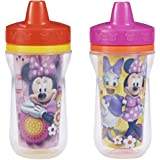 The First Years 2 Pack 9 Ounce Insulated Sippy Cup, Minnie Mouse (Color and design may vary)