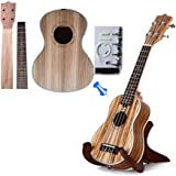 Zimo® Make Your Own Four Strings 23 Zebrano Concert Ukulele DIY Hawaii Ukulele Kit