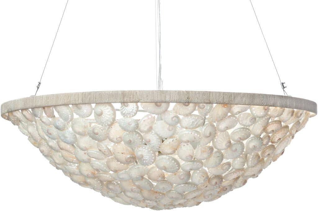 Kouboo Abalone Seashell Bowl Pendant Lamp Pearlescent White Amazon Com