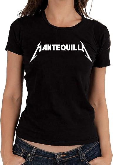 Camiseta Humor Mantequilla Metallica Mujer: Amazon.es: Ropa y accesorios
