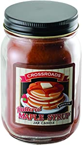 CWI Gifts Buttered Maple Syrup Pint Jar Candle