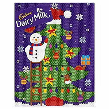 Cadbury Dairy Milk Christmas Chocolate Advent Calendar 90g: Amazon ...