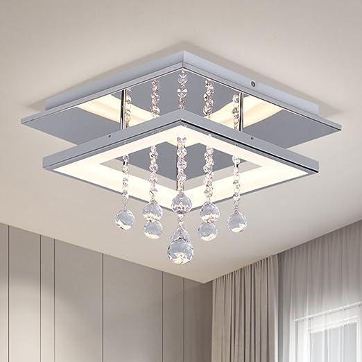 LED Crystal Ceiling Lights Modern Acrylic Ceiling Lamp Bedroom Flush Mount  Light Fixture Ceiling Chandelier Lighting Brightness Ceiling Light Square  ...