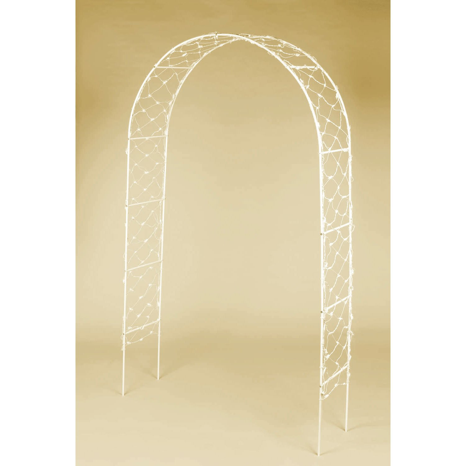 Amazon.com: Traditional White Wedding Arch Party Decoration, Metal ...