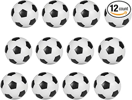 12 Pack Mini Table Soccer Foosballs Replacement Balls Official Foosball 36mm