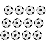 Hosyl Table Soccer Foosballs Replacements Mini Black and White Soccer Balls 12 Pack