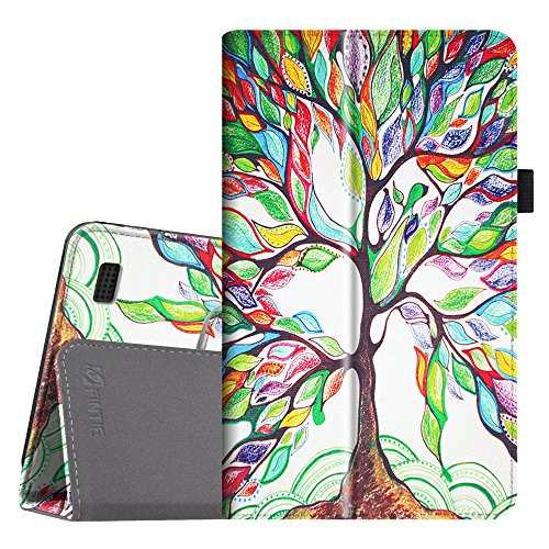 Fintie Folio Case for All-New Amazon Fire 7 Tablet (7th Generation, 2017 Release) - Slim Fit PU Leather Standing Protective Cover Auto Wake / Sleep, compatible with Fire 7 (5th Gen, 2015), Love Tree