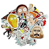 #6: 50pcs and 85pcs Drama Rick and Morty Stickers Decal For Snowboard Laptop Luggage Car Fridge DIY Styling Vinyl Home Decor Make Your Home Look New and Unique (85 PC)
