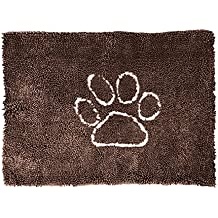 Petfinity Wetpet Ultra Absorbent Microfiber Dog Paw Door Mat, Small, Chestnut