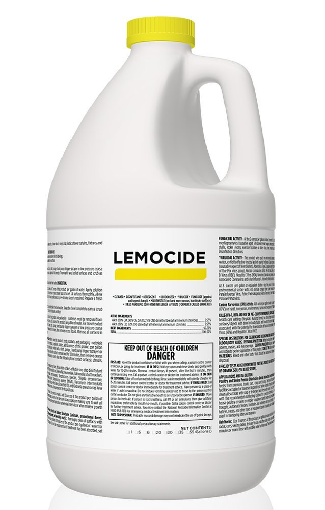 Professional Disinfecting Mildew, Virus & Mold Killer - Cleans & Deodorizes, Lemon Scent (1 Gallon Super Concentrate) by EcoClean Solutions