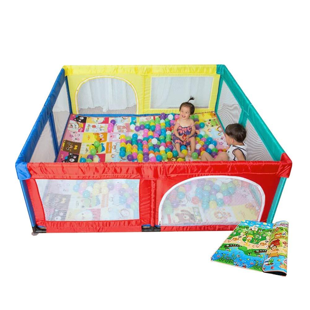 【2019 新作】 赤ちゃんPlaypenフェンス屋内と屋外の子供幼児のセキュリティフェンスのおもちゃの家 B07JDZ4LMD、180×190cm (色 : Playpen+mat+100 (色 Playpen+mat+100 balls) Playpen+mat+100 balls B07JDZ4LMD, 周防大島町:7bc432df --- a0267596.xsph.ru