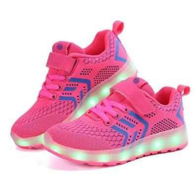 HUAN Jungen-Mädchen-Schuh-Tulle-Frühlings-Fall Leuchten Schuhe  Komfort-Athletische Schuhe LED für athletisches Rosa, Blau, Dunkelblau,  Schwarz: Amazon.de: ...