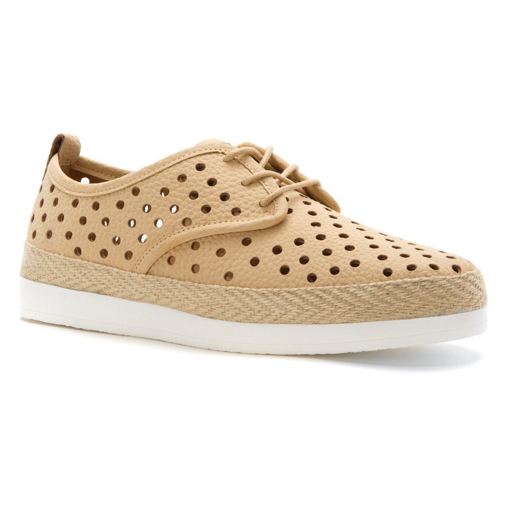 Lucky Brand Women's Tikko Perforated Oxford, Bisque/Natural, 9M US