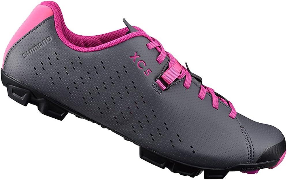 SHIMANO SH XC5 Mountain Bike Shoe Women's GreyMagenta; 44
