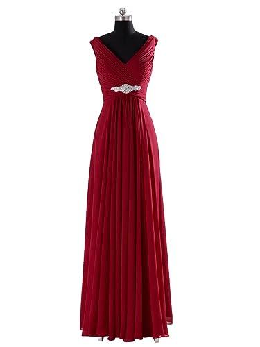 COCOMELODY Women's A-Line Floor Length Chiffon Dress
