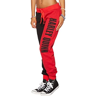 MISTY STORY Women's Fashion Harley Quinn Style Tracksuit Bottoms Jogging Casual Sweatpants