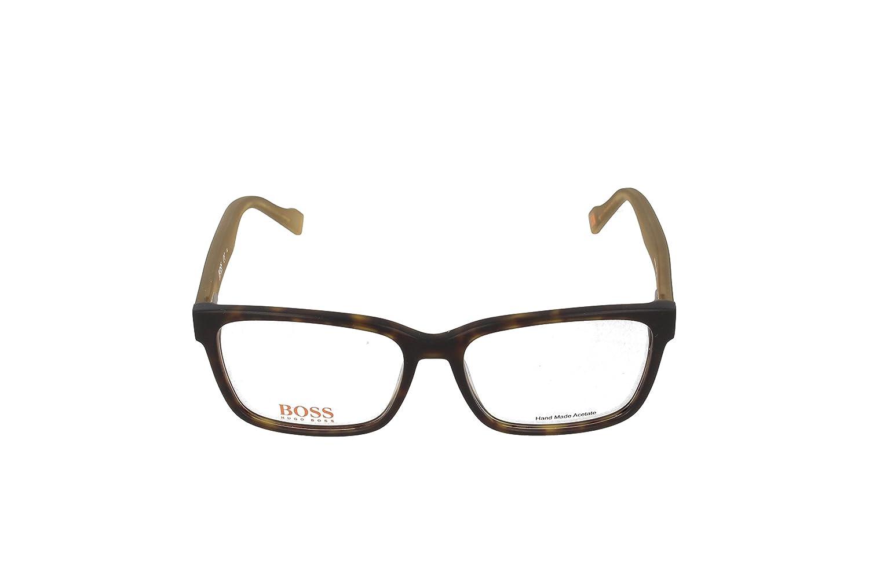 3aea60144ba Amazon.com  BOSS ORANGE Eyeglasses 0182 0K1m Havana Khaki Cream 55MM  Shoes