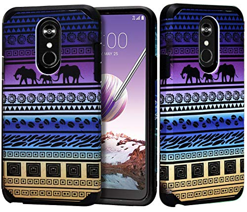 Jacket Animal Trim (Phonelicious LG STYLO 4 Plus Case LG STYLO 4 Phone Cover Dual Layer Hybrid Slim Fit with Screen Protector Compatible with LMQ710, L713DL (African Tribal))