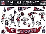 NFL New York Giants Spirit Family Decal Sheet, 8.5 x 11-inches