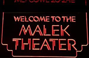 ValleyDesignsND Movie Theater Home Sign Acrylic Lighted Edge Lit 11