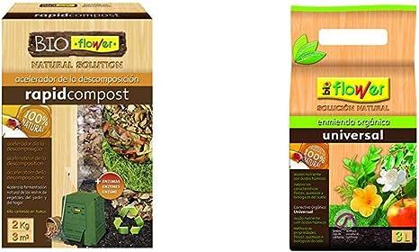 Flowe - Acelerador de la descomposición, Compost Orgánico, 2 kg + Compo Acelerador de descomposición de residuos Vegetales, 3 m², 2 kg, 1721612011: Amazon.es: Jardín