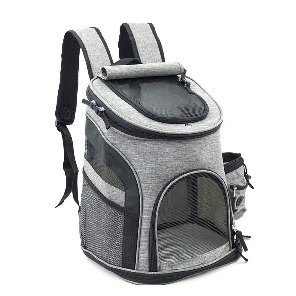 Black J&Y Oxford Cloth Bag Pet Dog Backpack Fashion Carrying Cat Bag Breathable Portable Dog Shoulder Backpack Travel Cat Bag