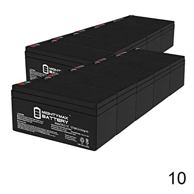 Mighty Max Battery ML3-12 12 Volt 3.4 Ah SLA Battery - 10 Pack Brand Product: Toys & Games