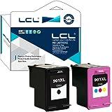 LCL Remanufacturées 901XL CC654AE CC656AE Lot de 2 (Noir/Couleur) Cartouches d'encre pour HP OfficeJet