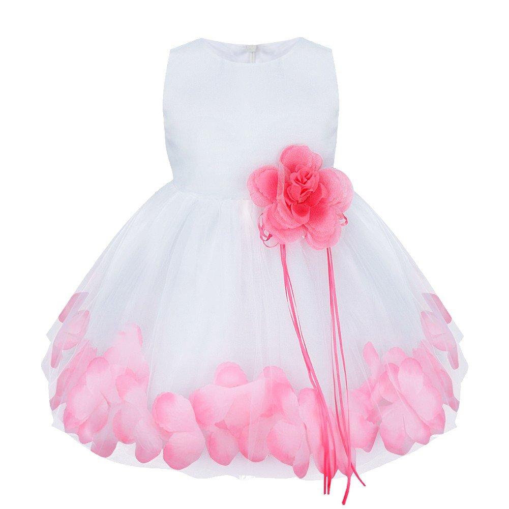 Freebily Vestido de Princesa Bautizo Cumpleaños Vestido Infantil ...