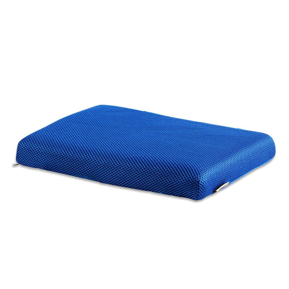 Zhi Jin Soft Rectangle Chair Cushion Memory Foam Mesh Seat Pads Cushions with Ties for Home School Office Blue