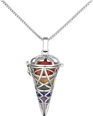 Femme 7 Perles Chakra Pendentif Yoga Healing Reiki Balancing Colliers Multicolor