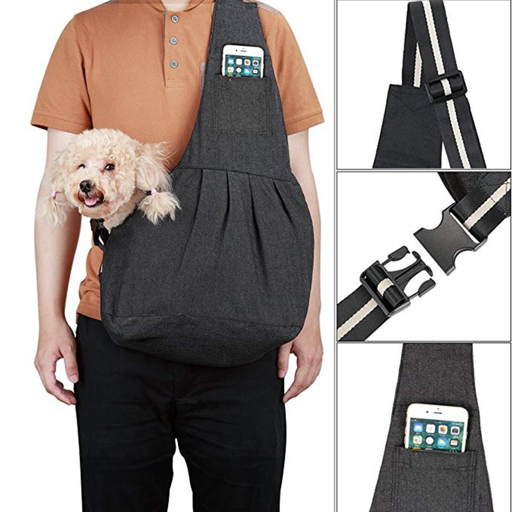EBRICKON Pet Carrier Sling, Shoulder Bag Adjustable Slide Strap Small & Medium Dogs, Cats Rabbits, Hands-Free Outdoor Pet Carrier, Puppy Carrier Tragvel Bag by EBRICKON (Image #4)