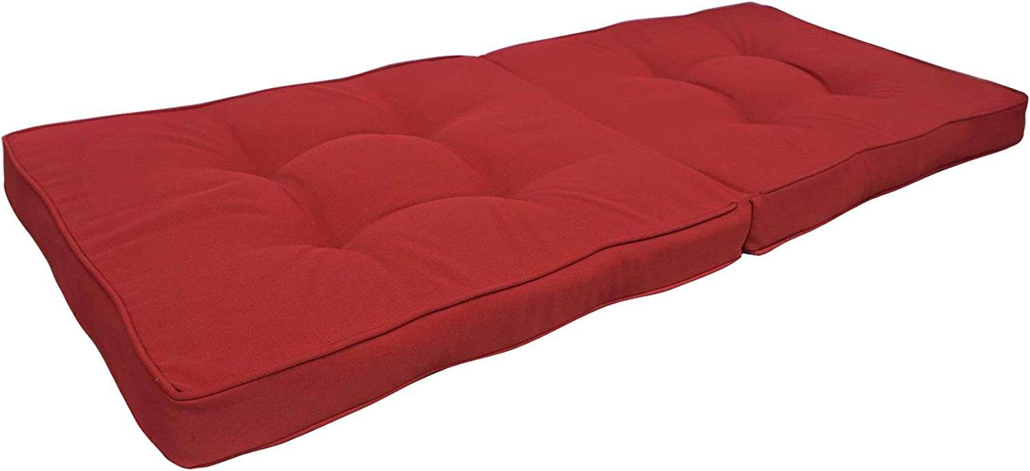 BOSSIMA Indoor Outdoor Swing Bench Loveseat Cushion Replacement Patio Seating Cushions (Olefin Bright Red)