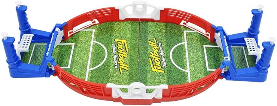 Toyvian Mini Juego de fútbol Juego de Mesa de fútbol Mesa portátil Juego de fútbol de Mesa para niños: Amazon.es: Juguetes y juegos