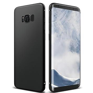 Funda Galaxy S8 , ikalula carcasa Galaxy s8 silicona Anti-Rasguño Anti-Golpes Funda protectora TPU Bumper completo Negro funda protectora anti-golpes ...