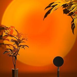 Sunset Lamp, Merece Sunset Projection Lamp, 180 Degree Rotation Sunset Light USB Projection Led Night Light, Romantic Visual Led Light for Photography/Selfie/Home/Living Room/Bedroom Decor