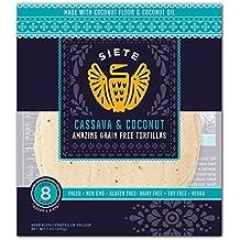 Siete Cassava & Coconut Flour Tortillas, Paleo Approved, 8 count (1 Pack - 8 Tortillas)