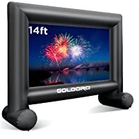 GOLDORO 14ft Outdoor Projector Screen - Inflatable Movie Screen Outdoor Projection Screen for Party Games Home Theater…