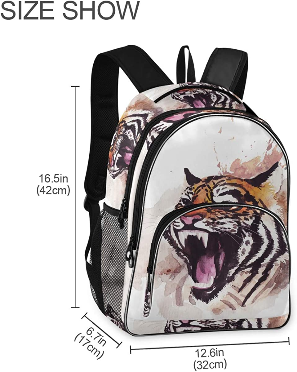 Travel Laptop Backpack Drawn Tiger College School Computer Bag Gifts for Men /& Women Lightweight Anti Theft Durable Backpack