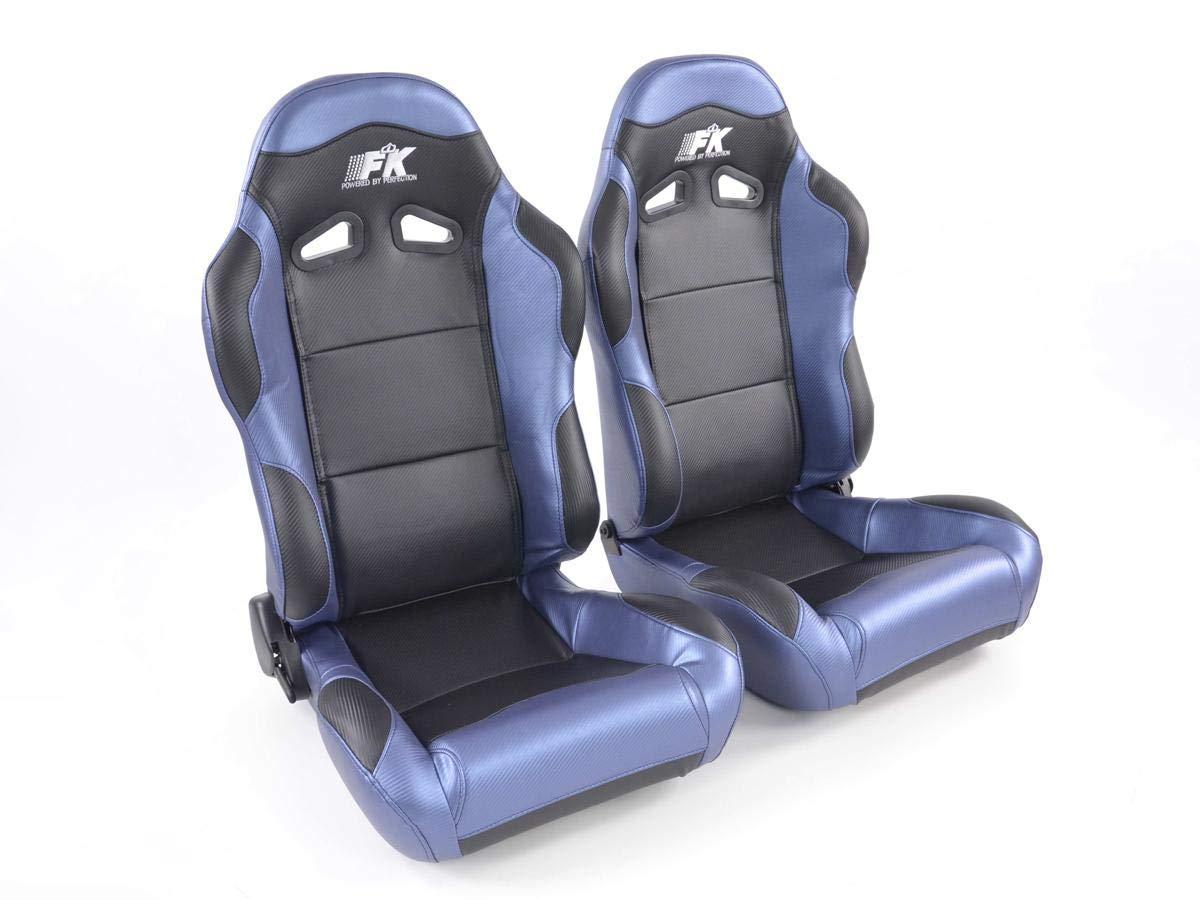 destro nero blu FKRSE809//810 Set Sedile sportivo Spacelook Carbon sinistro